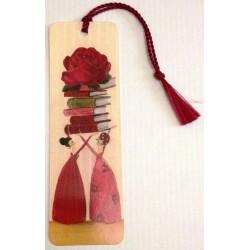 """Segnalibro """"Libri con Rosa"""""""