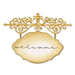 Sizzix Thinlits Die - Ornate Hanging Sign