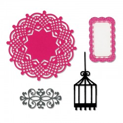Sizziz Framelits Die Set 4 pz - This & That, Graceful
