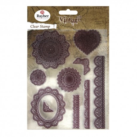 Clear Stamps Pizzo Vintage