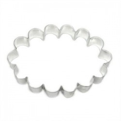 Cookie cutter - Frame ovale scallop