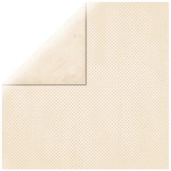 Carta Scrap Double Dot - Avorio - a foglio