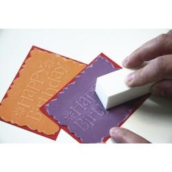 Carta Scrapbooking GIALLO SOLE a fogli - Struttura di lino