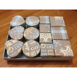 Mini-scatole assort. serie Christmas World - Snowflakes