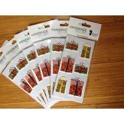 Handmade sticker - natalizio confezione 6 pz