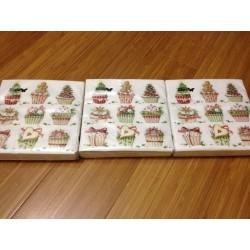 Tovaglioli natalizie confezione 20pz 3 veli / 25x25 cm