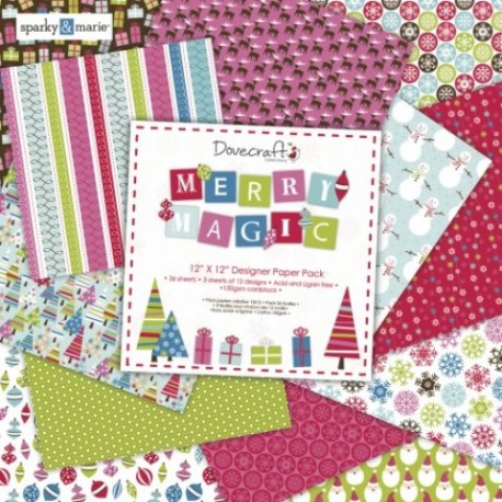 Carta Scrap Merry Magic