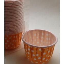 Pirottini plastificati - Pois Arancione