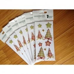 Handmade sticker - natalizio confezione 10 pz