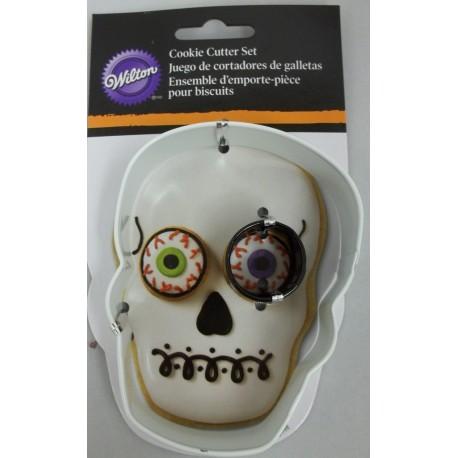 """Wilton cookie cutter set halloween """"teschio con occhio"""""""