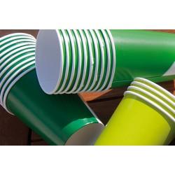 Bicchieri cartoncino verde lime