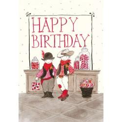 "Biglietto ""Happy Birthday - Saloon"""