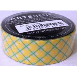Washi tape Rombi Giallo/Verde