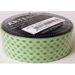 Washi tape Pois verdi su bianco