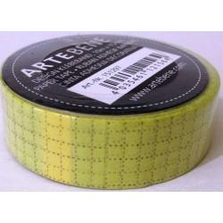 Washi tape Quadretti marroni su giallo