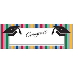Party banner Graduation Stripes